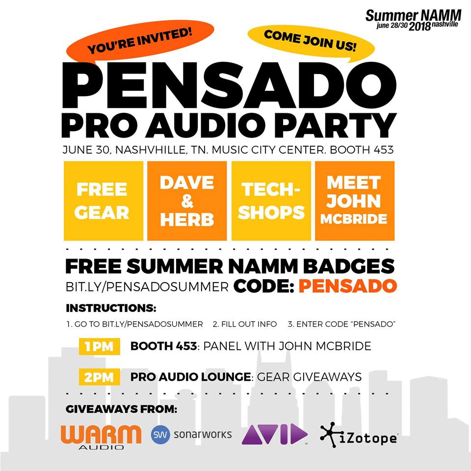 YOU'RE INVITED TO SUMMER NAMM!