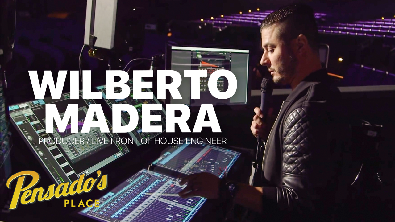 Pitbull's Live Front of House Engineer / Producer, Wilberto Madera