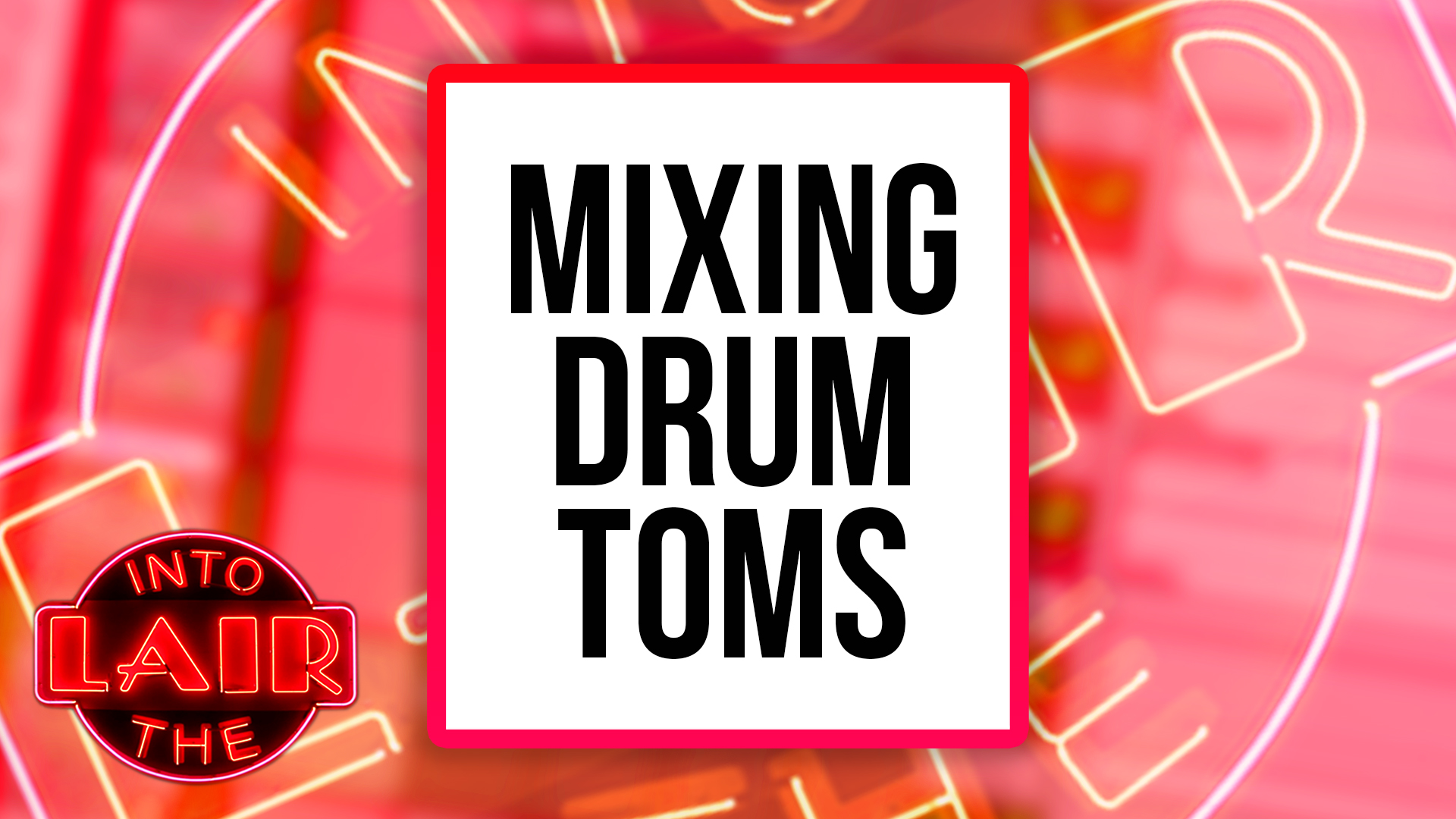 Mixing Drum Toms