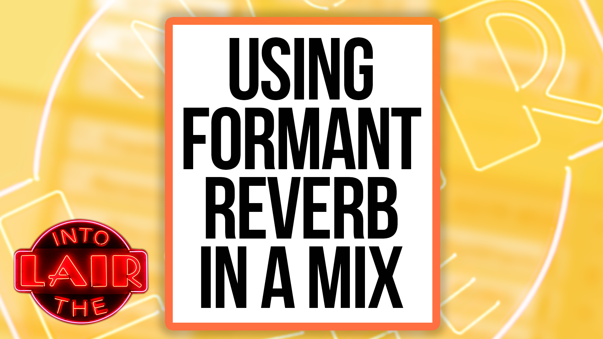 Using Formant Reverb In A Mix