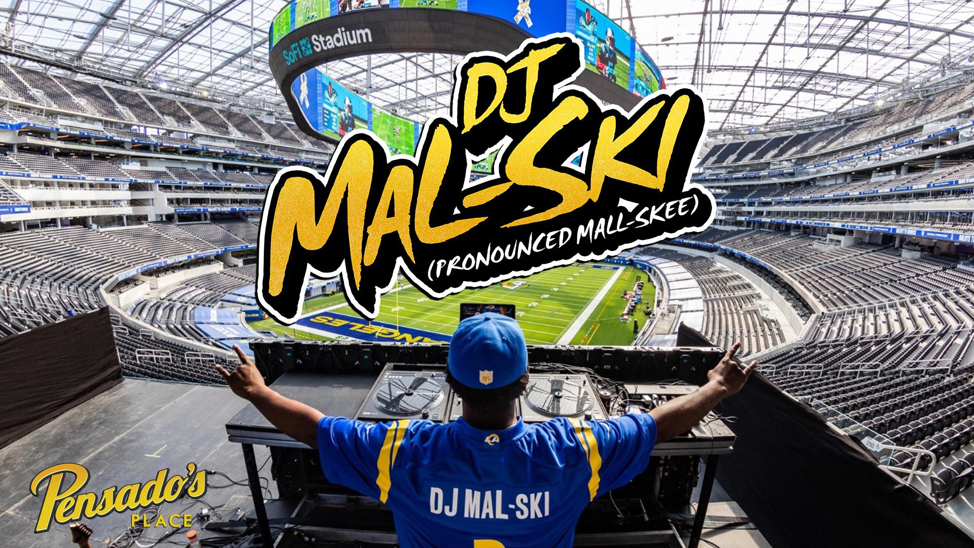 Official DJ for the LA Rams, DJ Mal-Ski